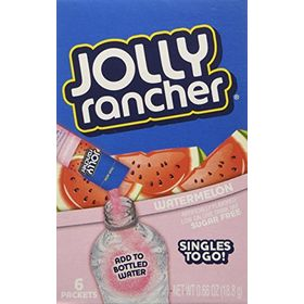 Jolly Rancher Singles To Go Watermelon Drink Mix Sugar Free, 18.8g