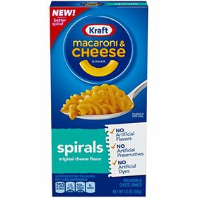 Kraft Macaroni and Cheese Dinner Spirals- 156 Grams