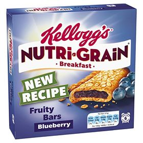 Kellogg`s NUTRI-GRAIN blueberry 6 Fruity Bars