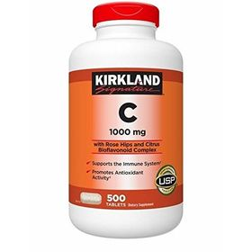 Kirkland Signature Vitamin C 1000 Mg with Rose Hips and Citrus Bioflavonoid Complex 500 Tablets