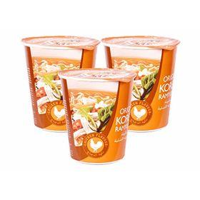 Paldo Korean Ramyun Instant Noodle Cup (Chicken Flavour),65g - Set of 3