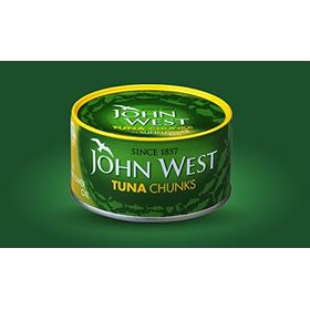 John West Tuna Chunks in Sunflower Oil, 185gm