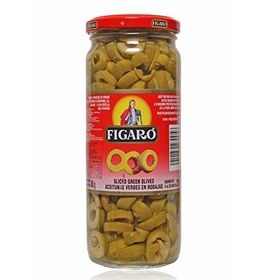 Figaro Slicedgreen Olives, 450g