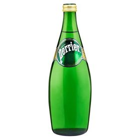Perrier Sparkling Natural Mineral Water Glass Bottle, 750ml