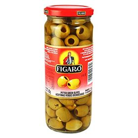 Figaro Pittedgreen Olives, 450g