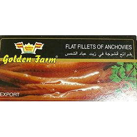 Golden Flats Fillets Of Anchovies In Pure Vegetable Oil ,43Gms