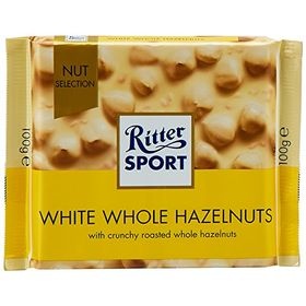 Ritter Sport White Chocolate with Whole Hazelnuts, 100 g