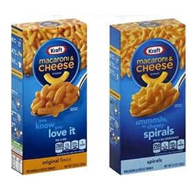 Kraft Combo of Macaroni and Cheese Dinner Original 206 g and Spiral 156 g