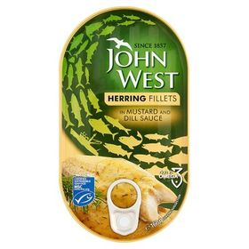 John West Herring Fillets in Mustard & Dill Sauce 160g