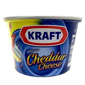 Kraft Processed Cheddar Cheese, 190g Tin - Pack of 2