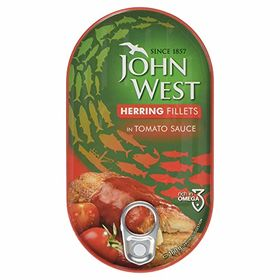 John West Herring Fillets in Tomato Sauce, 160g