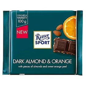 Ritter Sport Dark Almond & Orange Chocolate, 100g