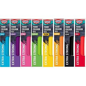 Dr. Oetker Food Colour Gel (15 g Each) -Set of 8 Colours
