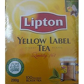 Lipton Yellow Label Tea Finest Blend Quality No 1 Black Tea, 100 Tea Bags