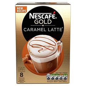 Nescafe Gold Caramel Latte, 17g X 8 (136g) (8 Mug Box)