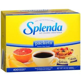 Splenda No Calorie Sweetener, 400 Count Packets