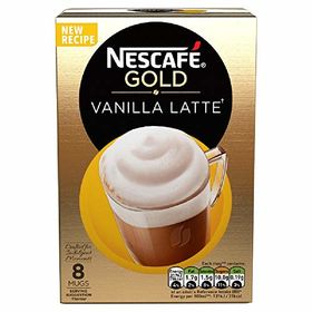 Nescafe Cafe Menu Latte Vanilla, 185g (Pack of 8)
