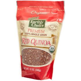 Global Juices and Fruits Nature's Earthly Choice Organic Premium Quinoa, Red, 12 oz