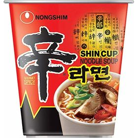 Nong Shim Cup Noodles Soup Korean Style Instant Noodles - Pack of 6