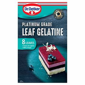Dr. Oetker Platinum Grade Leaf Gelatine (13 g) - Pack of 8 Leaves
