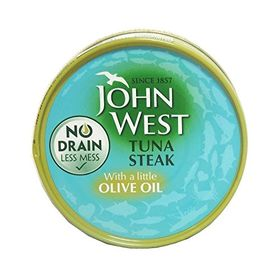 John West Tuna Steak with Little Olive Oil, 120g