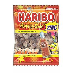 Haribo Happy Cola Zing Gummy Candy, 140g (Pack of 2)