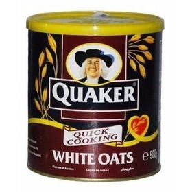 Quaker White Oats Tin, 500g