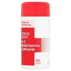 Tesco A-Z Multivitamins & Minerals 90S