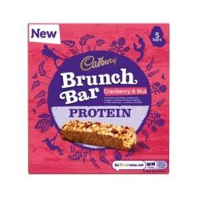 Cadbury Brunch Bar Protein Cranberry & Nut 5 Bar ( 5 X 32g ), 160g