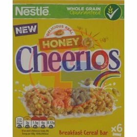 Nestle Cheerios Honey Breakfast Ceral Bars, 6 x 22g (132g)