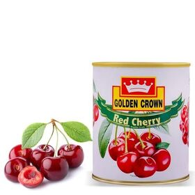 Bakers King Golden Crown Red Cherry Regular with Stem Fruit Canned (840 gm, Pack of 1 )
