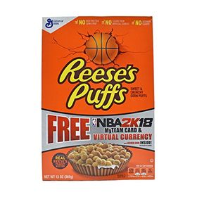 General Mills Reese's Puffs, Sweet and Crunchy Corn Puffs, 368 g