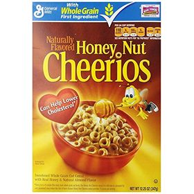General Mills Natural Flavoured Honey Nut Cheerios Cereal, 347 g