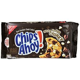 Nabisco Chips Ahoy Crunchy Cookies White Fudge Chunky 333g (Expiry Jun 2020)