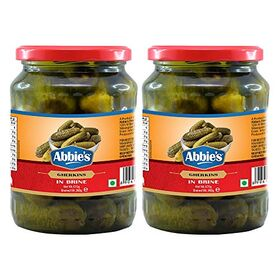 Abbie's Gherkins Big in Vinegar, 680g, Pack of 2