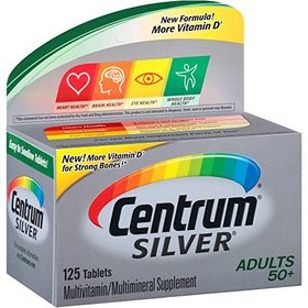 Centrum Silver Adults 50+, 125 Tablets (Expiry August 2020)