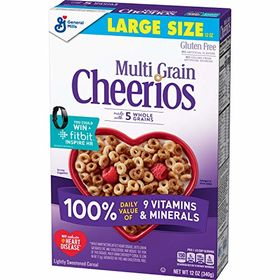 Cheerios Multi Grain Made with 5 Whole Grains Gluten Free 340g