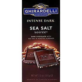 Ghirardelli Intense Dark Sea Salt Soiree Dark Chocolate With Roasted Almond - 100G(Expiry Date 1st August 2020)