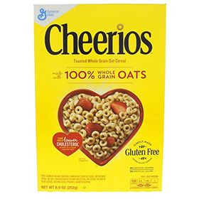 General Mills Cheerios Toasted Whole Grain Oat Cereal, 252g