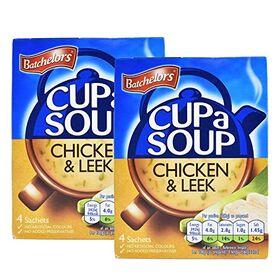 Batchelor's Cup A Soup 4 Sachets - Chicken & Leek - 2 Pack, 2 x 86 g