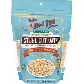 Bob's Red Mill Organic Steel Cut Oats 680 gm (24 oz) | World's Best Oatmeal