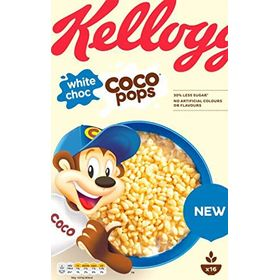 Kellogg's White Choc ( Chocolate Flavoured ) Coco Pops Cereal 480g