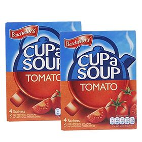 Batchelor's Cup A Soup 4 Sachets - Tomato - 2 Pack, 2 x 93 g