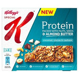 Kellogg's Special K Protein Packed With Nuts, Seeds & Almond Butter Coconut, Cocoa, & Cashew Bar 4*28g, 112g