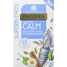 Twinings Superblends Calm Spiced Camomile & Vanilla with Roasted Chicory Root Tea, 20 Tea Bag, 30g
