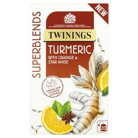 Twinings Superblends Turmeric with Orange and Star Anise 20 Tea Bag, 30g