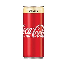 Cola ChefsNeed Coca-Cola Vanilla Flavour 320ml Each (Pack of 12 Cans X 330ml)