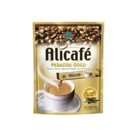 Alicafe Premium Gold Instant with Colombian Arabica & Ginseng (Coffee Premix) – 300 GMS (20gm sachets X 15)