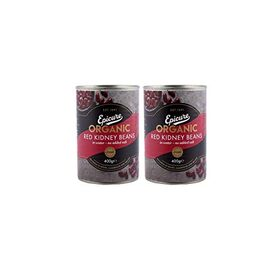 Epicure Organic Red Kidney Beans in Water ( Pack of 2 )