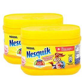 Nestle Nesquick Strawberry Flavoured Drink 2 Pack, 2 x 300 g